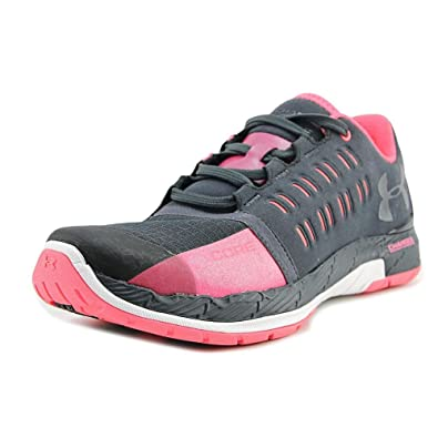Under Armour Women's UA Charged Core Stealth Gray/Pink Chroma/Graphite  Sneaker 6.5 B