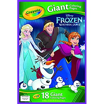 Amazon Crayola Frozen Giant Coloring Pages Toys Amp Games