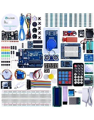 ELEGOO Conjunto Avanzado de Iniciación para Arduino UNO con Tutorial en Español y Conjunto de UNO