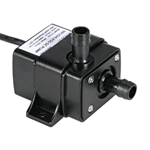 Festnight - Mini bomba silenciosa DC12V Micro sin escobillas, de aceite, impermeable, sumergible, para fuente, acuario, 5 W, 240 L/h, altura de extracción 3 m, 0 ~ 100 °C