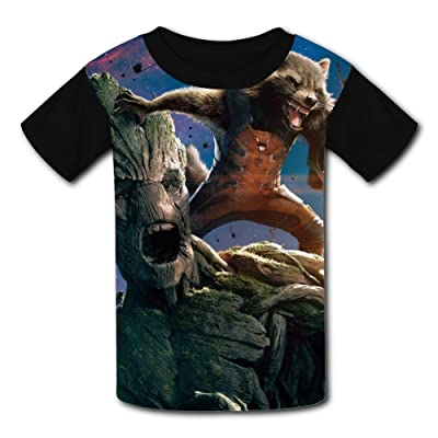 3D Cartoon-Gala-Groot Design Sleeve T-Shirt Fashion Styles Tee Shirt