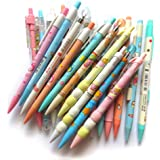 DzdzCrafts Mixed 0.5MM Kawaii 6-Packs Mechanical Pencils Office School Supplies (Some with Top Erasers)
