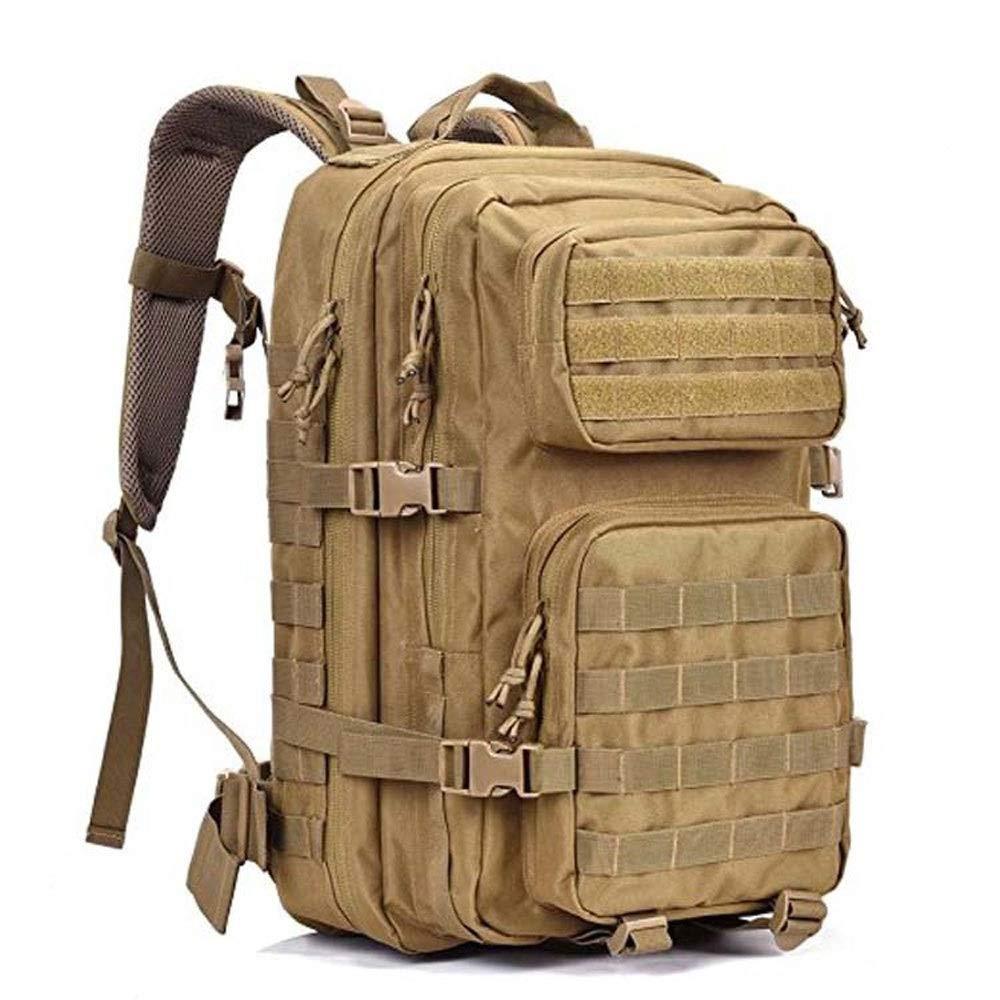 アウトドア大容量バックパック、調節可能ショルダーストラップ、ハイキングバックパック多機能バックパック(カーキブラック) (色 : Khaki)  Khaki B07RHNH3BJ