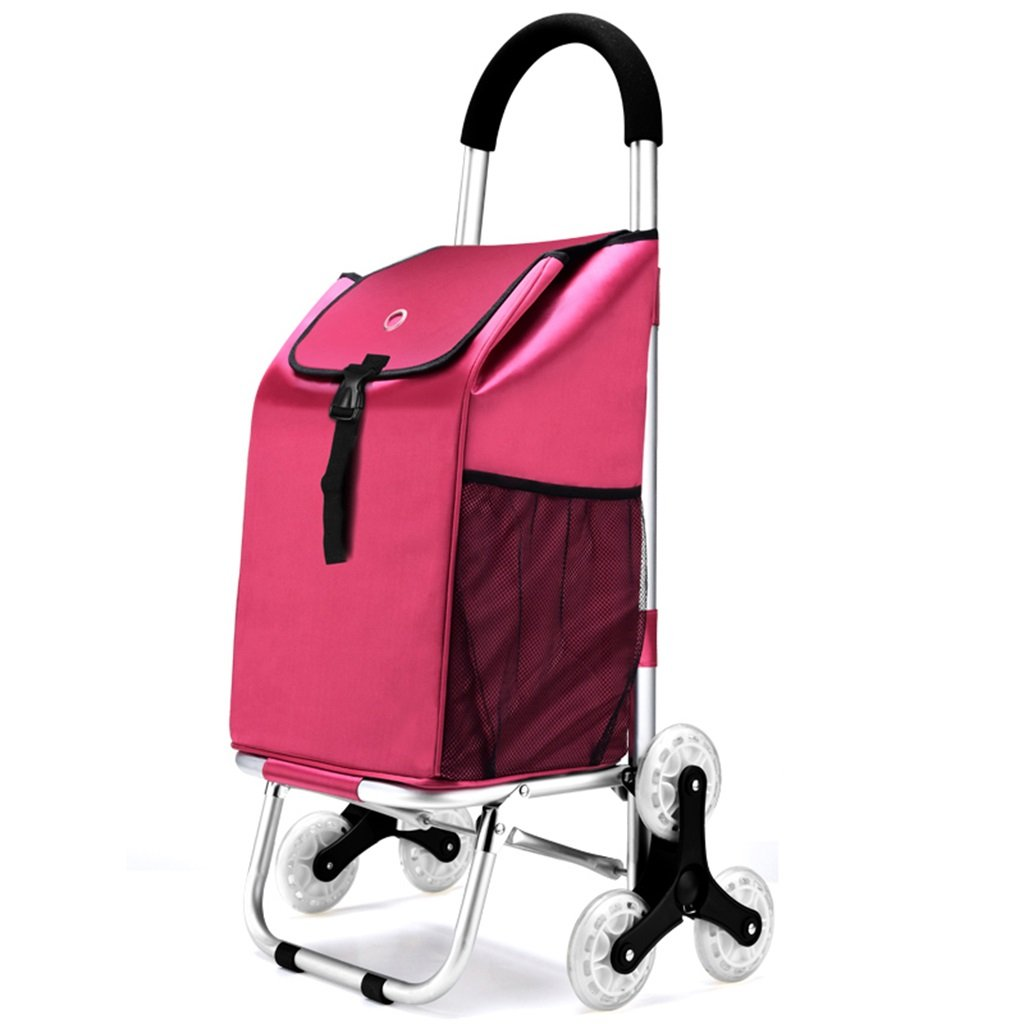 NingNing NN Staircase Shopping Luggage Foldable Portable Padded Waterproof Bag Aluminum Luggage Cart Trolley Trailer Can Withstand 50Kg Weight Household Products (Color : C)