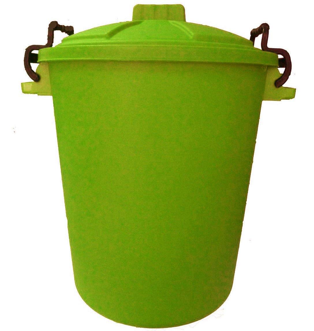 50L - Lime Green - Litre Plastic Colour Bin Garden Rubbish Waste Dustbin OnlineDiscountStore