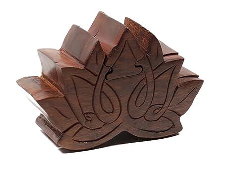 Amazoncom Fair Trade Lotus Wooden Puzzle Box Toys Games