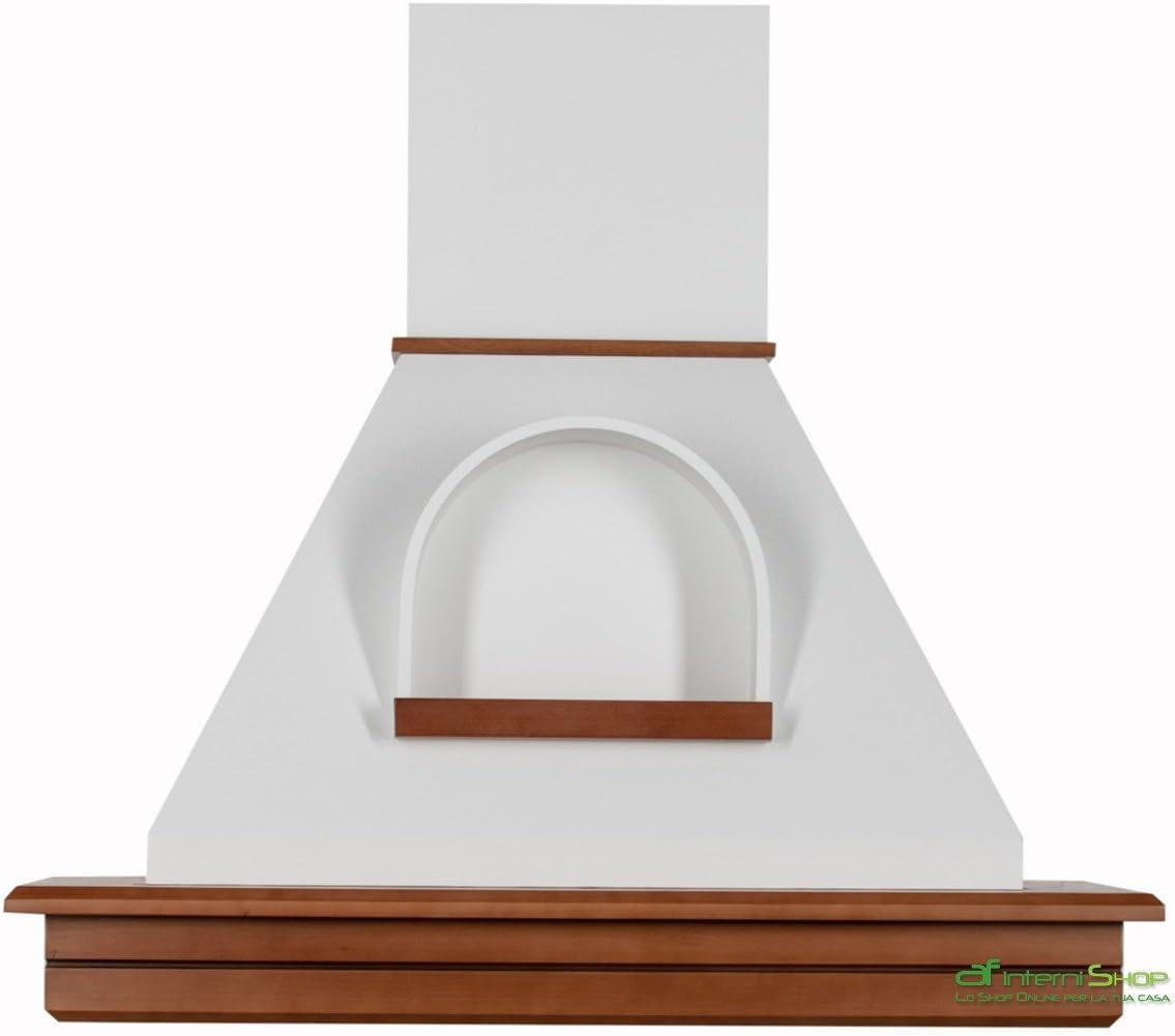 Cappa cocina pared de madera 90 rústica mod.Stock-noce biondo cono con nicho .. blanco.: Amazon.es: Hogar