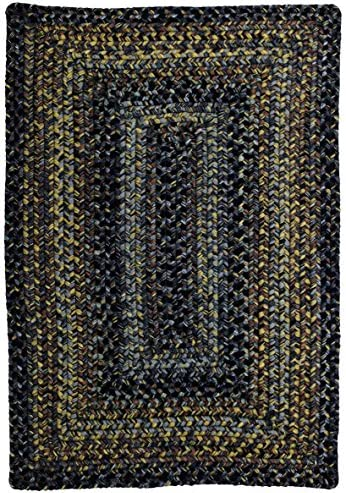 Homespice Rectangular Outdoor Braided Rugs, 8 x 10 , Black Forest