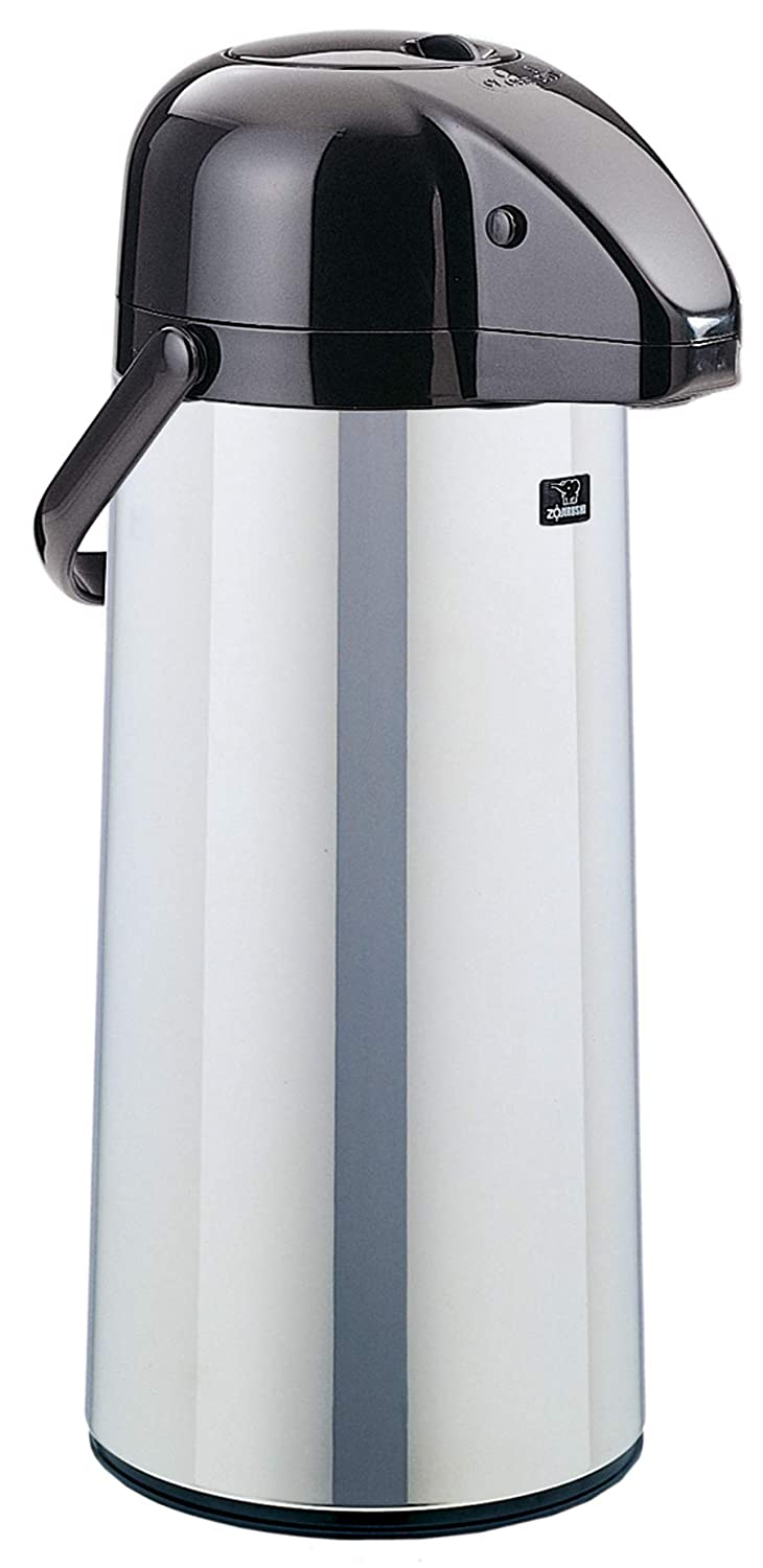 Zojirushi AAPE-22SCXA Air Pot Beverage Dispenser, 2.2 Liters, Polished Stainless, Made in Japan