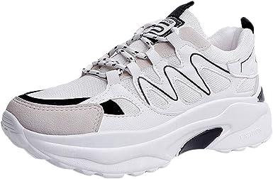 Zapatillas Deportivas para Mujer, Informales, Antideslizantes, Impermeables, con Plataforma amortiguadora a Prueba de Golpes, Blanco (Blanco), 36 M EU: Amazon.es: Zapatos y complementos
