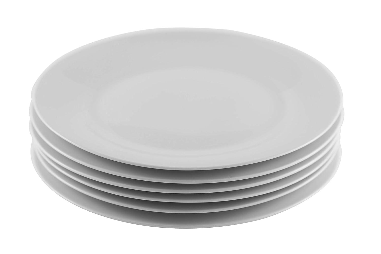 Professional Gourmet Porcelain Dinner Plate- Set of 6 (Dinner Plate)