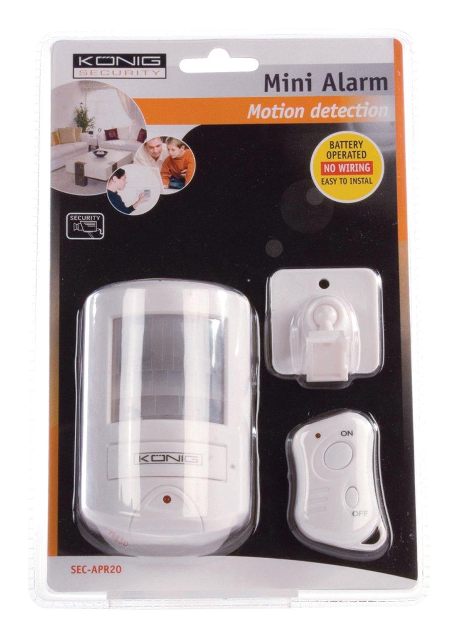 König SEC-APR20 Sensor de infrarrojos Inalámbrico Blanco detector de movimiento - Sensor de movimiento (Sensor de infrarrojos, Inalámbrico, 130 dB, AA, ...