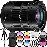Panasonic Leica DG Vario-Elmarit 12-60mm f/2.8-4 ASPH. POWER O.I.S. Lens 9PC Accessory Bundle – Includes 3 Piece Filter Kit (UV + CPL + FLD) + 6PC Graduated Filter Kit + MORE (White Box)