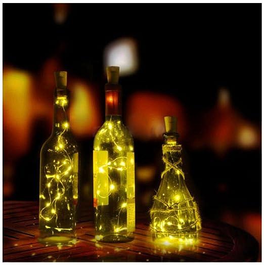 Ularma Corcho De Botella De Vino Solar En Forma De Cadena Luz 10 Noche Led Lámpara De Luz De Hadas Solares Exterior Lamparas Led Decoración Perfecto