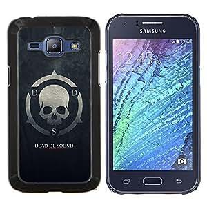 KLONGSHOP // Cubierta de piel con cierre a presión Shell trasero duro de goma Protección Caso - Muerto De Sonido DDS - Samsung Galaxy J1 J100 //