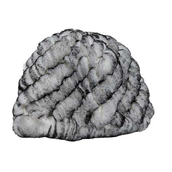 Echt Rex Hut Mütze Kaninchen-Pelz Fell Ball Kappe Gehörschutz Winter Warm Cap