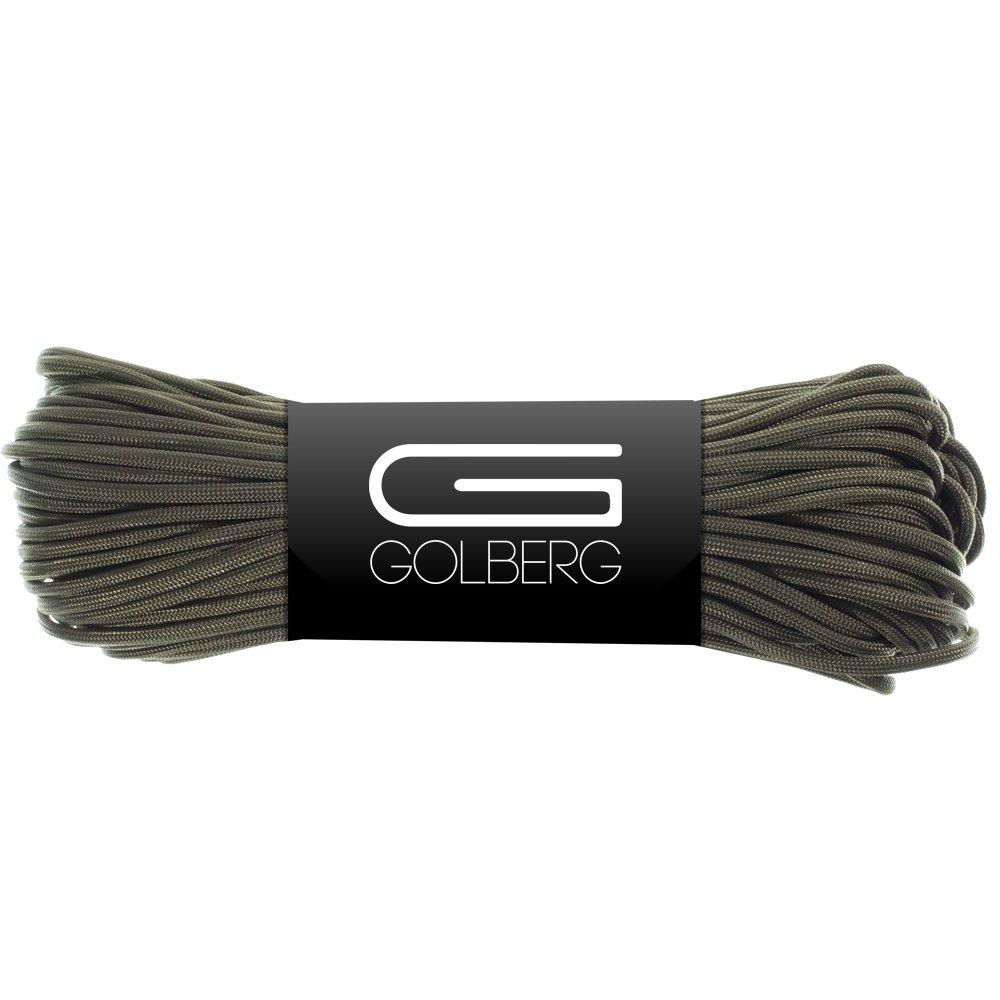 Golberg 850 Paracord - Stronger Than 550 and 750 - Made in The USA by Certified Government Contractors - (100 Feet, Olive Drab in Hank)