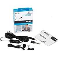 JSD Pro Boya by-M1 Lapel Microphone for Smart Phone, Action Cameras, DSLR and Camcorders