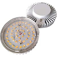 Light Bulbs 2pcs LED GX53 5W Cooling Cabinet Light Intensity 85-265V CE ROHS Transparent Glass (Size : Warm white 3000K)