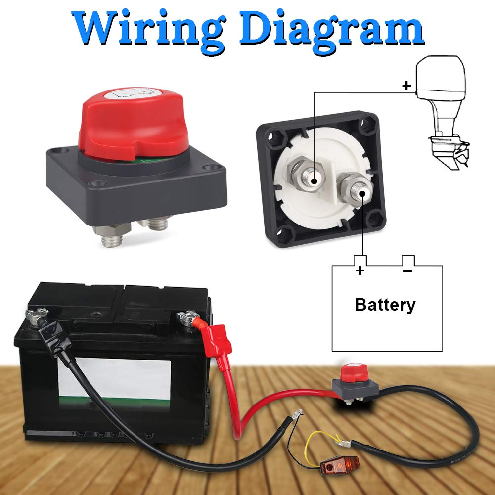 Waterwich Dc 12 48v Battery Disconnect Switch Marine Cut Car Kill Wiring Diagram Shut Off