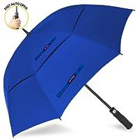 ZOMAKE 157,5cm ampia apertura automatica ombrello da golf extra large oversize ventilato a doppio telo impermeabile antivento bastone ombrelli