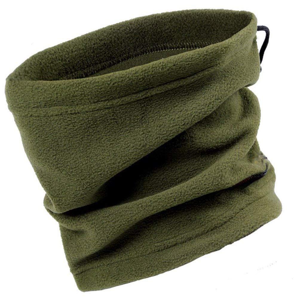 ACQUAVERDE Scaldacollo Invernale Copricapo Pile Unisex con Laccio Verde Militare