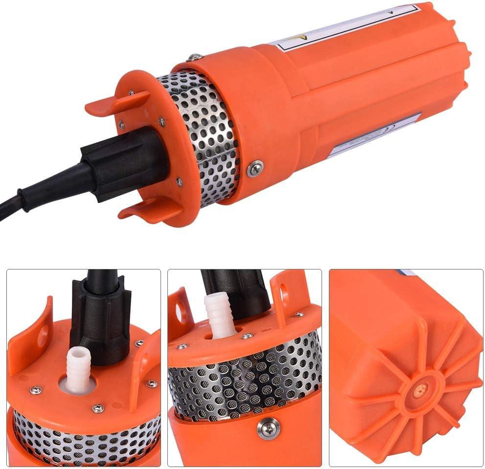Pompe /à Eau /à /Énergie Solaire 12V Pompe deau /à Haut D/ébit 6.5L//Min Pompe de Puits Profond avec Profondeur Maximal de 30M Pompe /à Eau Submersible en Plastique