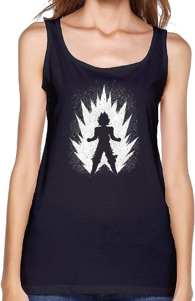 Camiseta sin Mangas Goku para Mujer - Negro - X-Large ...