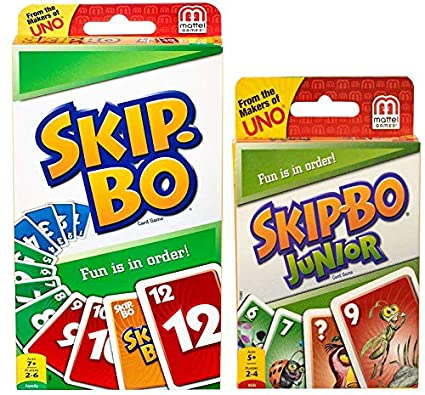 Amazon.com: Universal Specialties Skip-Bo and Skip-Bo Junior ...