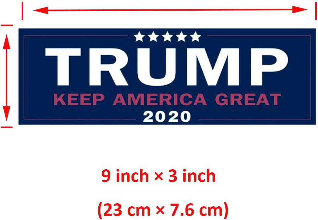 Hoolucat Donald Trump 2020 Keep America Great Vote USA Republican Party Presidential Election Car Bumper Stickers Decal Unite States Trump Bumper Windshield Stickers 4 Pic Pack for Campaign Supporter