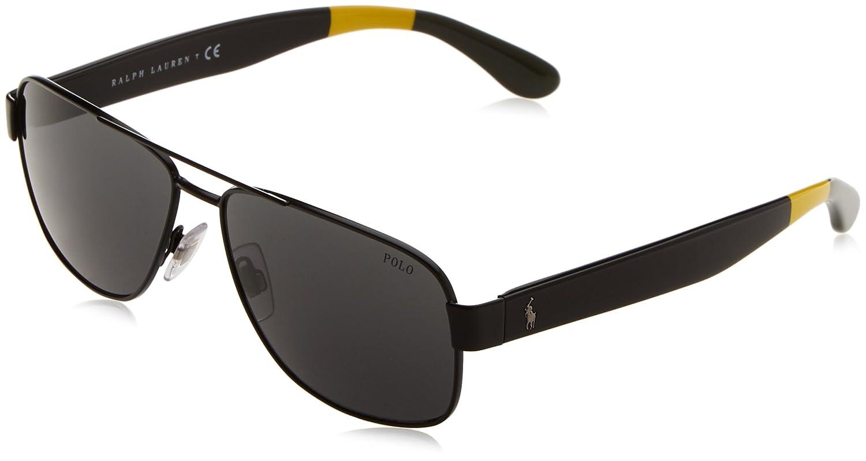Polo Ralph Lauren PH3097, Gafas de Sol para Hombre, Negro (Black ...