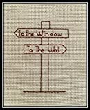 Counted Cross Stitch Pattern. To the window. to the wall.