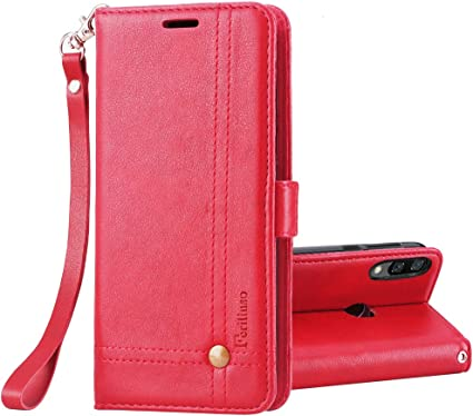 Docrax Custodia Xiaomi Redmi Note 7//Note 7 PRO Portafoglio DOHHA150413 Blu Cover in Pelle Funzione di Stand Slot per Schede Antiurto Leather Case Cover per Xiaomi Redmi Note 7