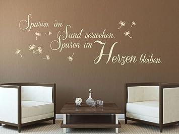 Wandtattoo Bilder® Wandtattoo Spuren Im Sand Verwehen Nr 2 Wanddeko  Wohnzimmer Wandaufkleber Farbe Rot