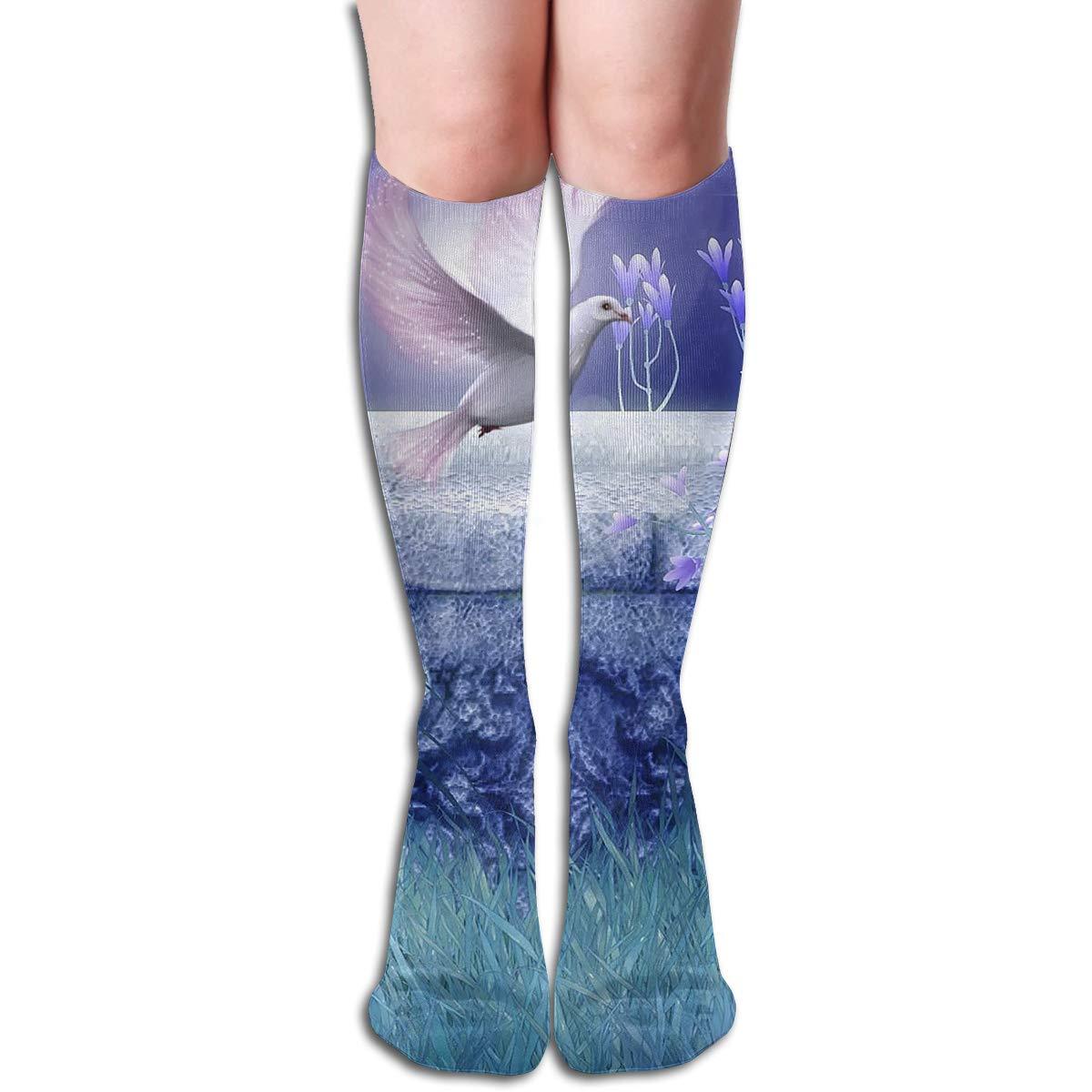 Amazon.com: Bandnae 19.68 Inch Compression Socks Dove Flower ...