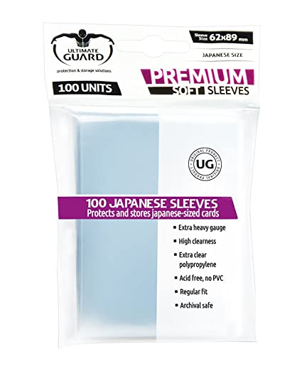 Ultimate Guard Premium Soft Sleeves Fundas de Cartas Tamaño Japonés Transparente (100)