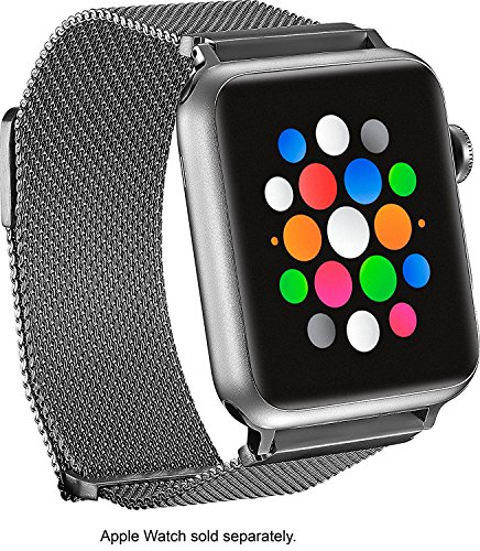 Magnetic Stainless Steel Mesh Band for Apple Watch 42mm - Silver by Platinum
