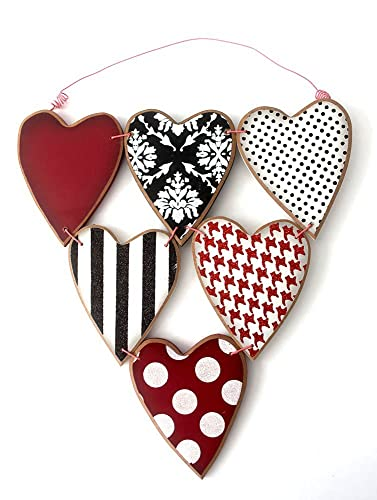 Valentine Wood Heart Wall Hanging Door Hanger
