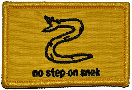 No Step On Snek - 2x3 Morale Patch Patch with Hook Fastener