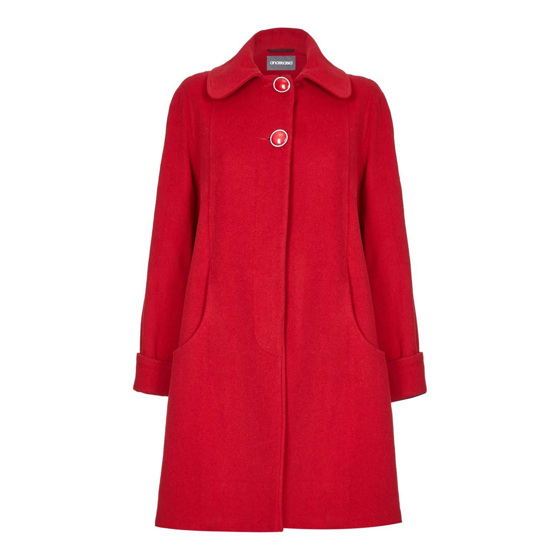 De La Creme Womens Swing Wool Cashmere Winter Coat 1711