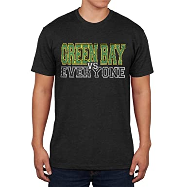 7cdbe5b8d724f0 Green Bay VS Everyone Vintage Distressed Mens Soft T Shirt Vintage Black SM