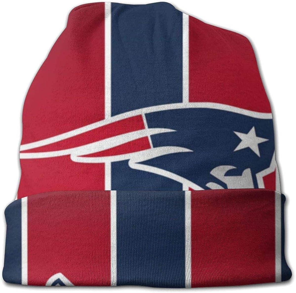 Sinobullit Kids Beanie Caps New England Patriots Skull Cap Knitting Hat Warm Winter Knit Hats for Boys Girls Black