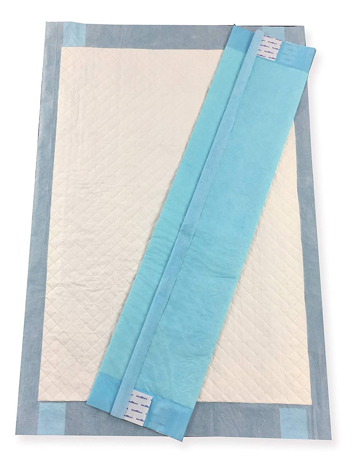 Medokare Disposable Incontinence Bed Pads, Hospital 1500ml Disposable Underpads for Elderly Adults Kids Disposable Bed Liner Mat, 10g SAP (72 Pads w/Tags)
