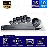 Samsung SDH-C75100 16 Channel 2TB HDD DVR Security System w/ 10 Cameras (Certified Refurbished)