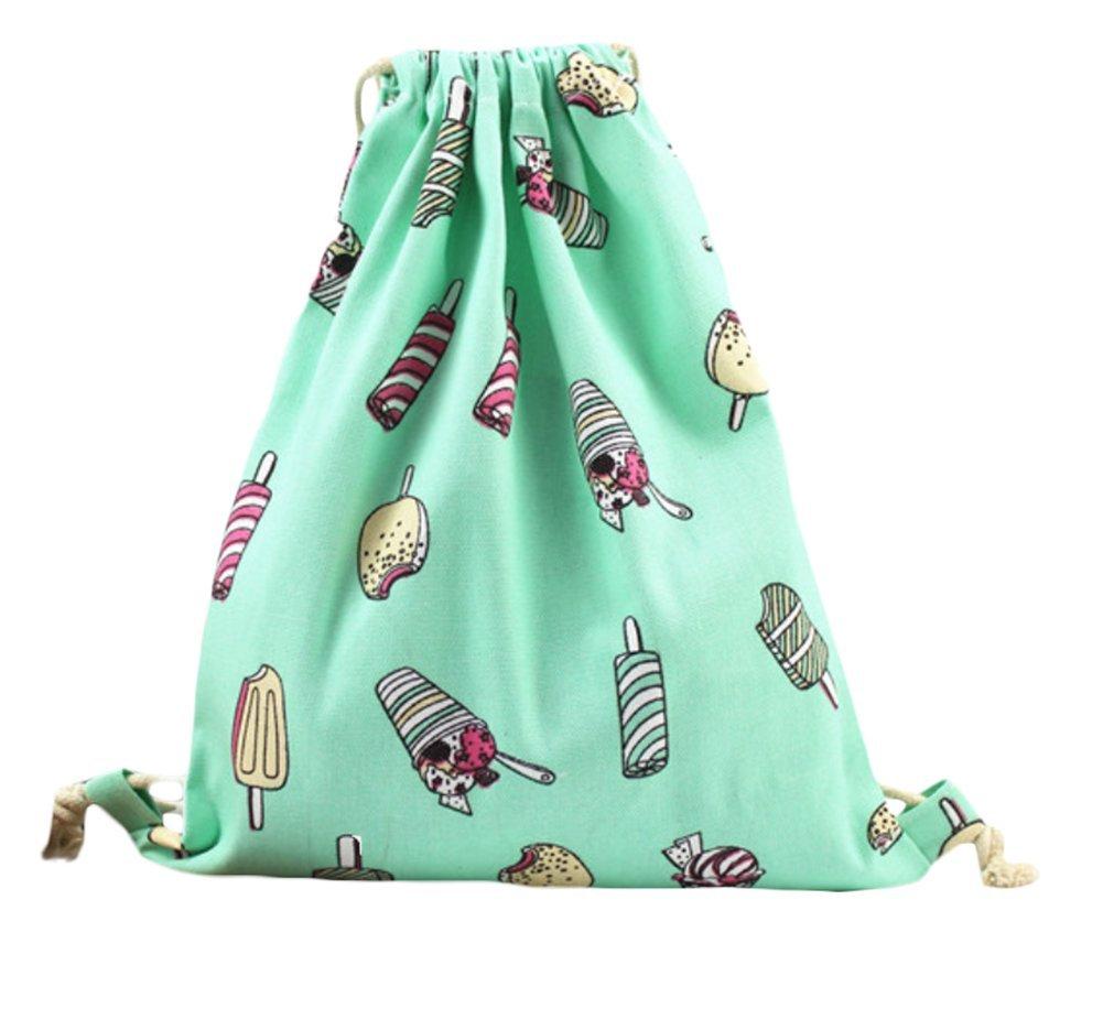 Xuxuou 1 pcs personalidad elegante con estilo de los hombres y de las mujeres Interesante patrones de lona de algodón con cordón bolsa de almacenamiento de ...