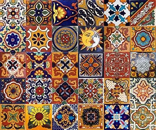 Nombre de carreaux 30 pi/èces dans lemballage Cerames Girsasol Taille de la dalle 10cm * 10cm Carrelage mural mexicain d/écoratif Pour salle de bain et cuisine