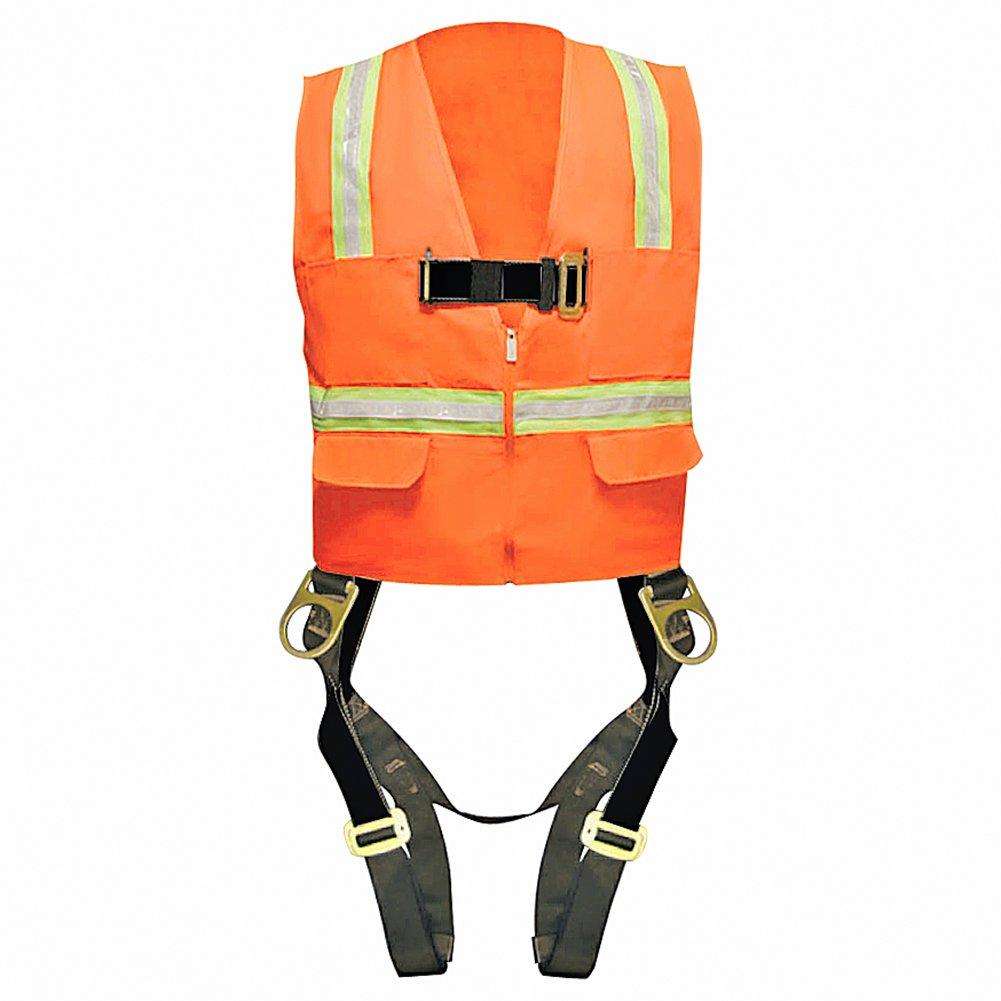 Madaco Roof Construction Fall Protection Heavy Duty Full Body Industrial Safety Harness Size XL ANSI OSHA H-TB205-AV-XL
