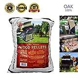 Z GRILLS Premium BBQ Wood Pellets for Grilling Smoking Cooking OAK Hardwood Pellets,20LB Per Bag Made in USA(1)