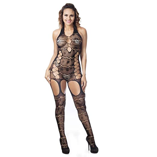 49e5c6e9c Image Unavailable. Image not available for. Color  Nigalaly Womens Sexy  Bodysuits Sleeveless Lingerie Lace ...