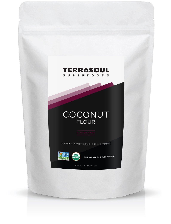 Terrasoul Superfoods Organic Coconut Flour, 6 Pounds
